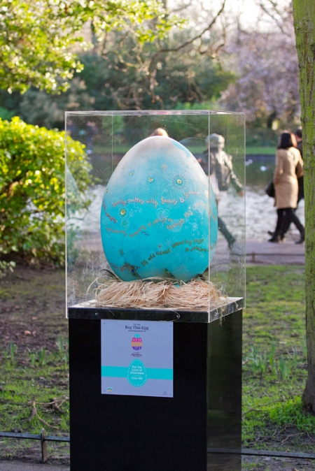 Lily O'Brien's egg in situ on The Big Egg Hunt. Thanks to Paul Sherwood for the pic